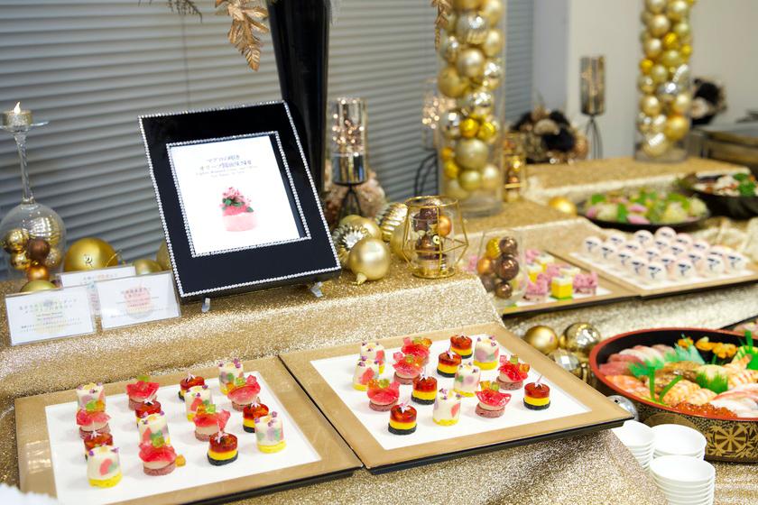 【取引先を招いた懇親会の事例】高級食材を使った宝石のようなフィンガーフードにドクターも満足!