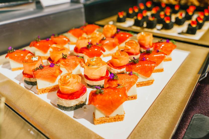 【取引先を招いた懇親会の事例】 銀座の一等地で見た目も綺麗な高級食材を使った和食を